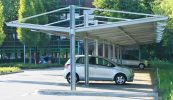 Carport Urban Line in asymetrischem Design