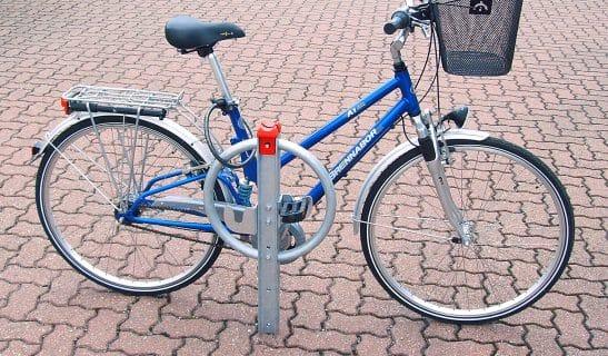 Designpoller zum Einbetonieren als Fahrradständer Forum F4