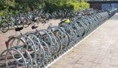 Fahrradparksystem als doppelter Anlehnbügel