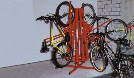 Vertica Spin: Gasdruckfeder Fahrradparker drehbar