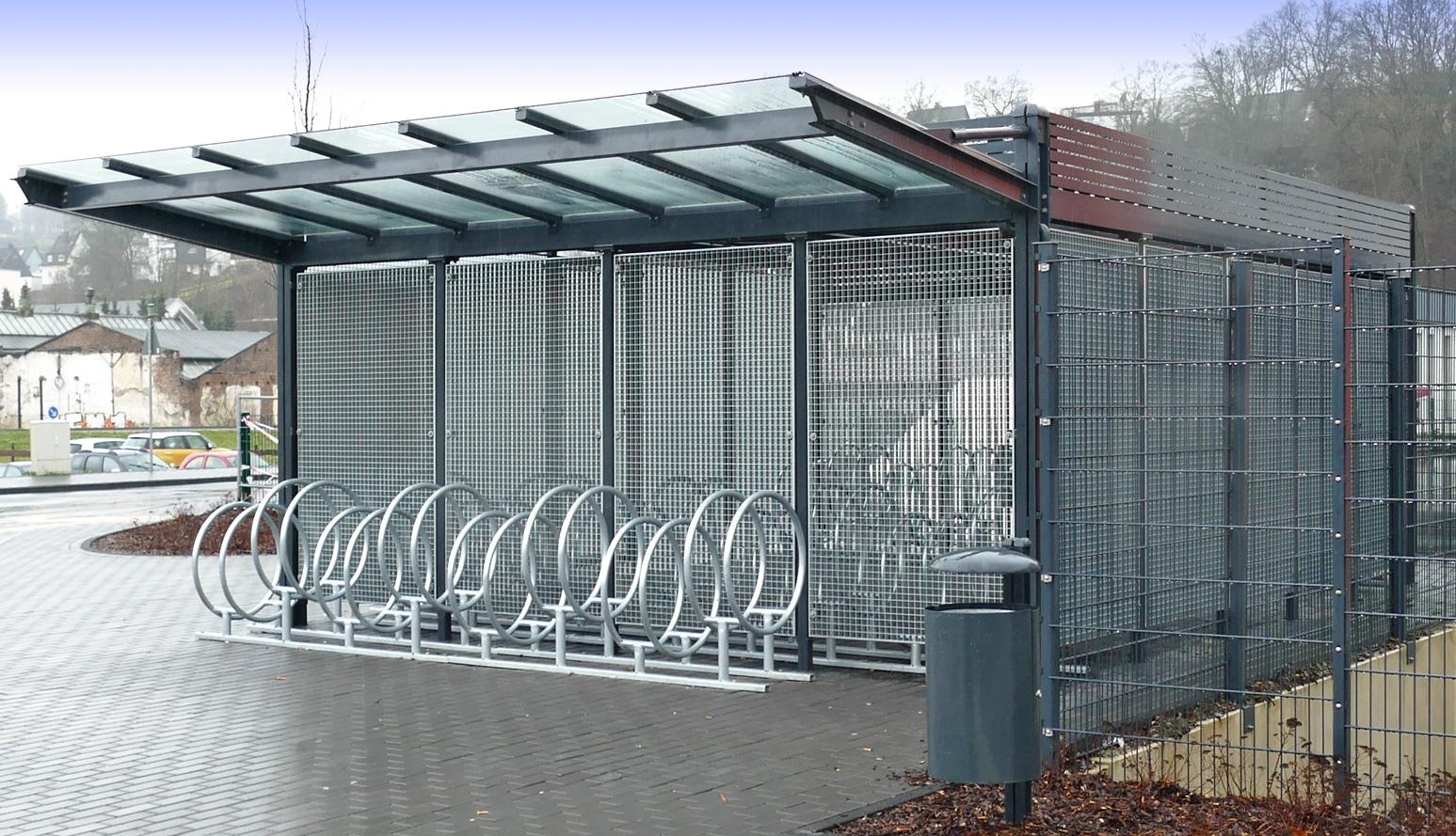 Überdachung forum d1 | bike and ride gmbh