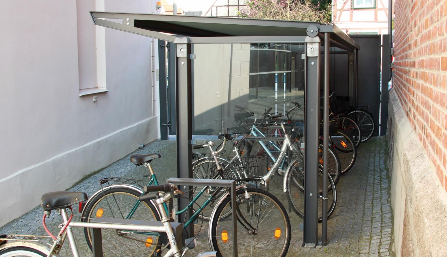 Überdachung forum d4 | bike and ride gmbh