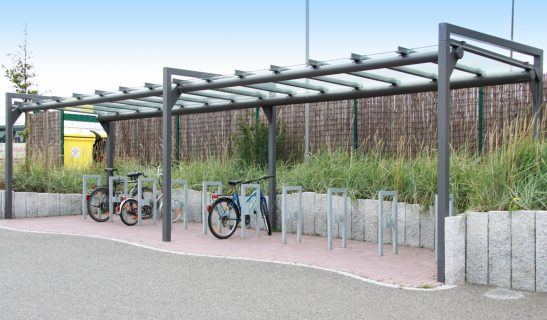 Frame einseitige Einstellung als Anfangs- und Anbaumodul mit Fahrradständer Frame F1
