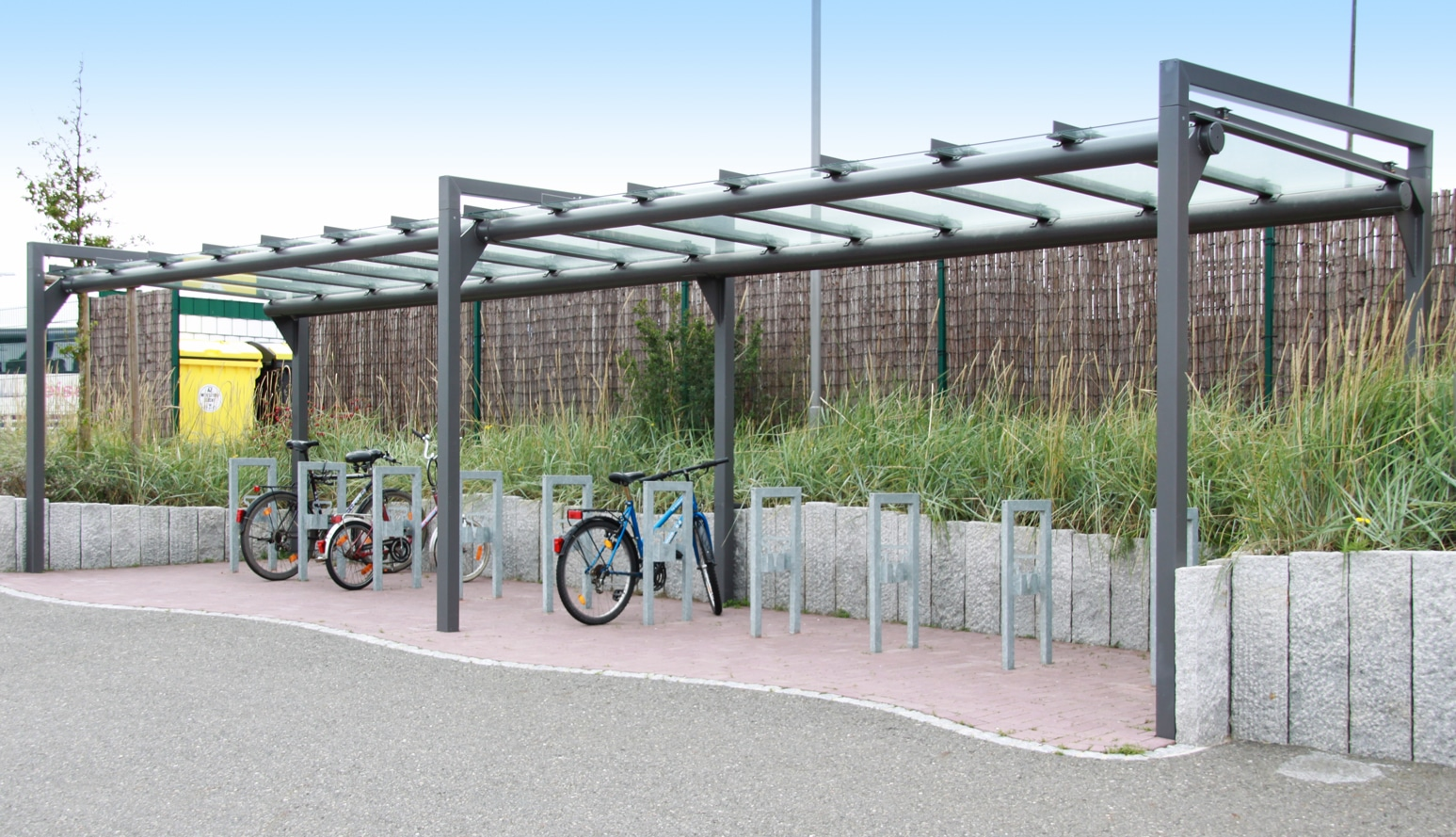 Überdachung frame | bike and ride gmbh