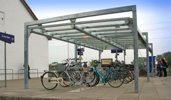 Beidseitige Überdachung Frame mit Verbundscheibensicherheitsglas als Anfangs- und Anbauelement