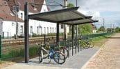 Systemüberdachungen Urban Line als Anfangs- und Anbaumodul einseitig