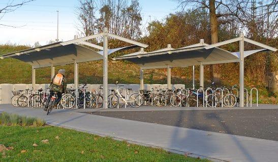 Fahrradüberdachung Urban Style beidseitig